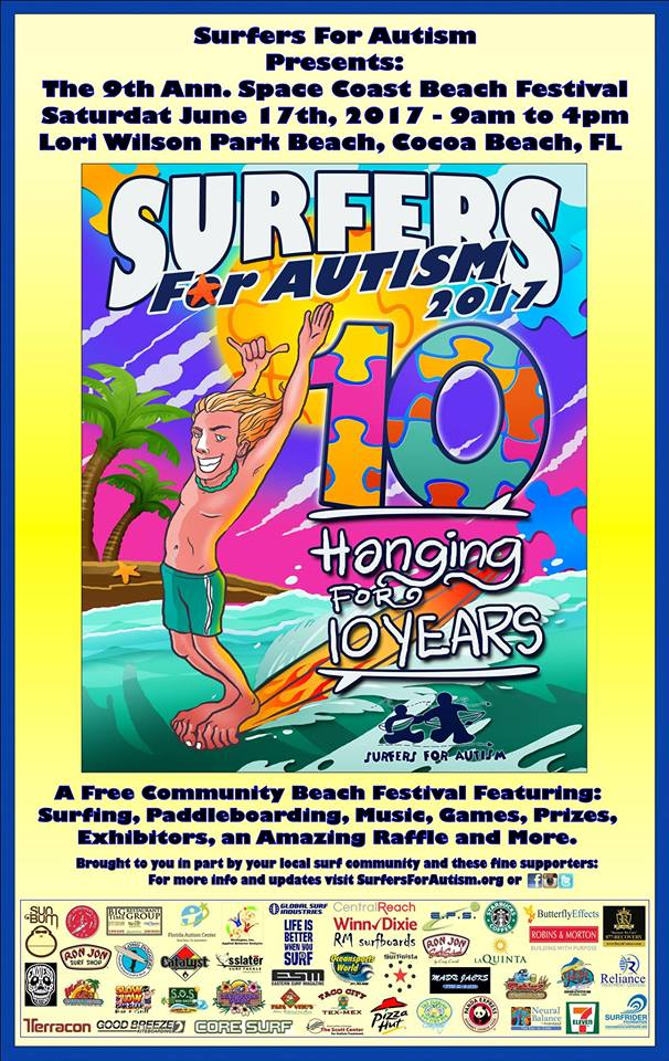 SURFERS FOR AUTISM - 9th Annual Space Coast Beach Festival
