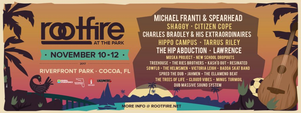 Rootfire At The Park Returns: Cocoa, FL Nov 10-12