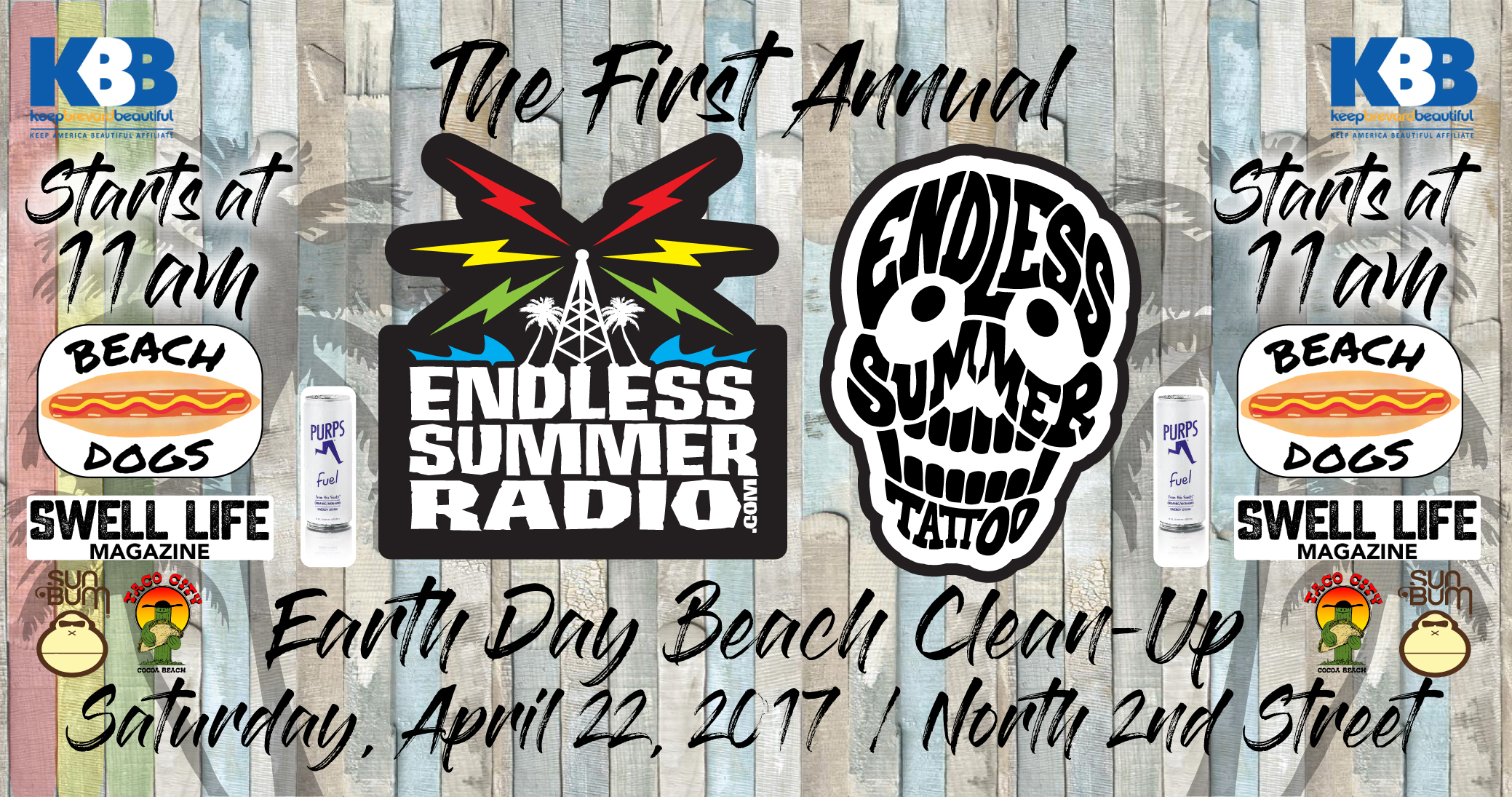 Endless summer radio tattoo earth day beach clean up for Endless summer tattoo