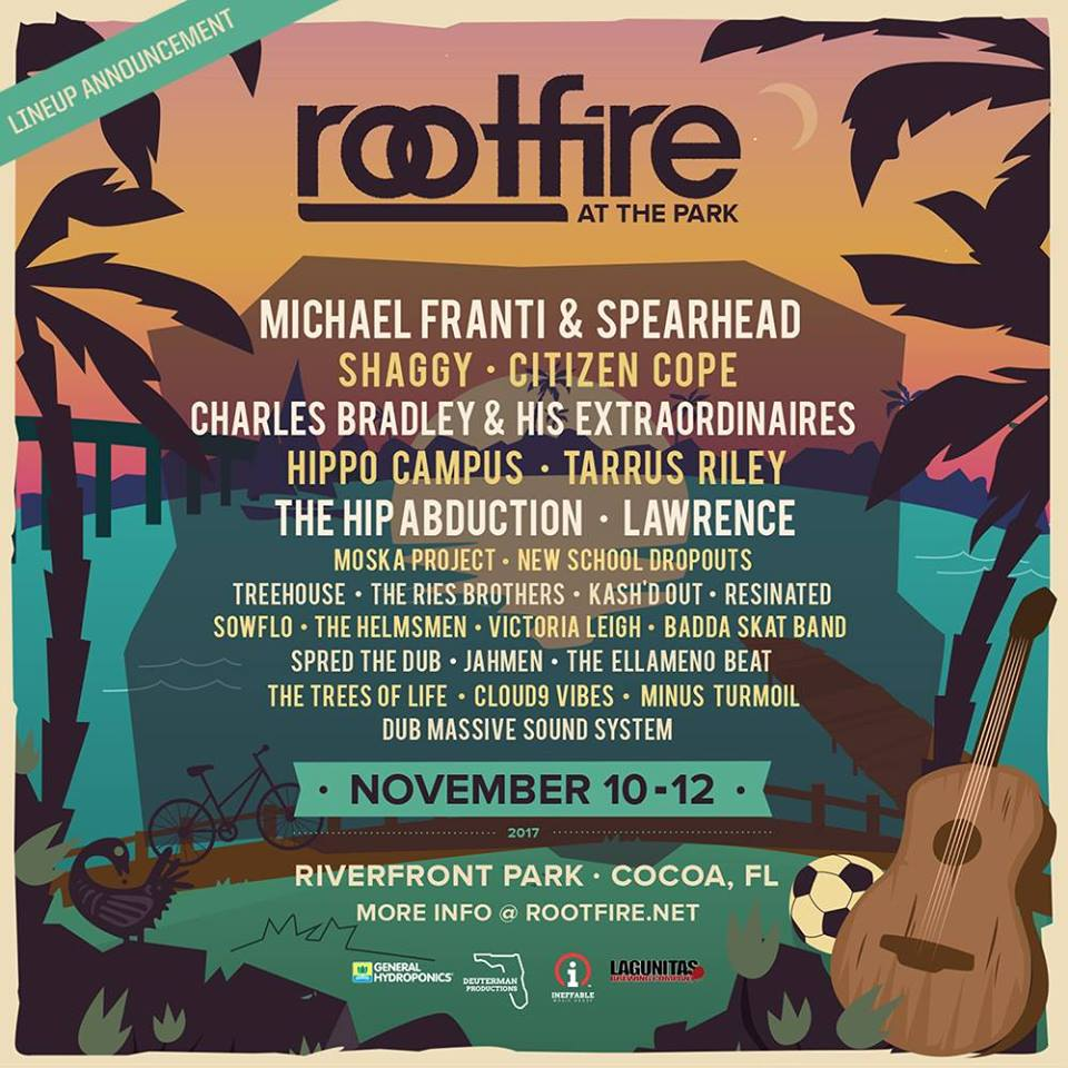 Rootfire At The Park - November 10-12 in Cocoa, FL