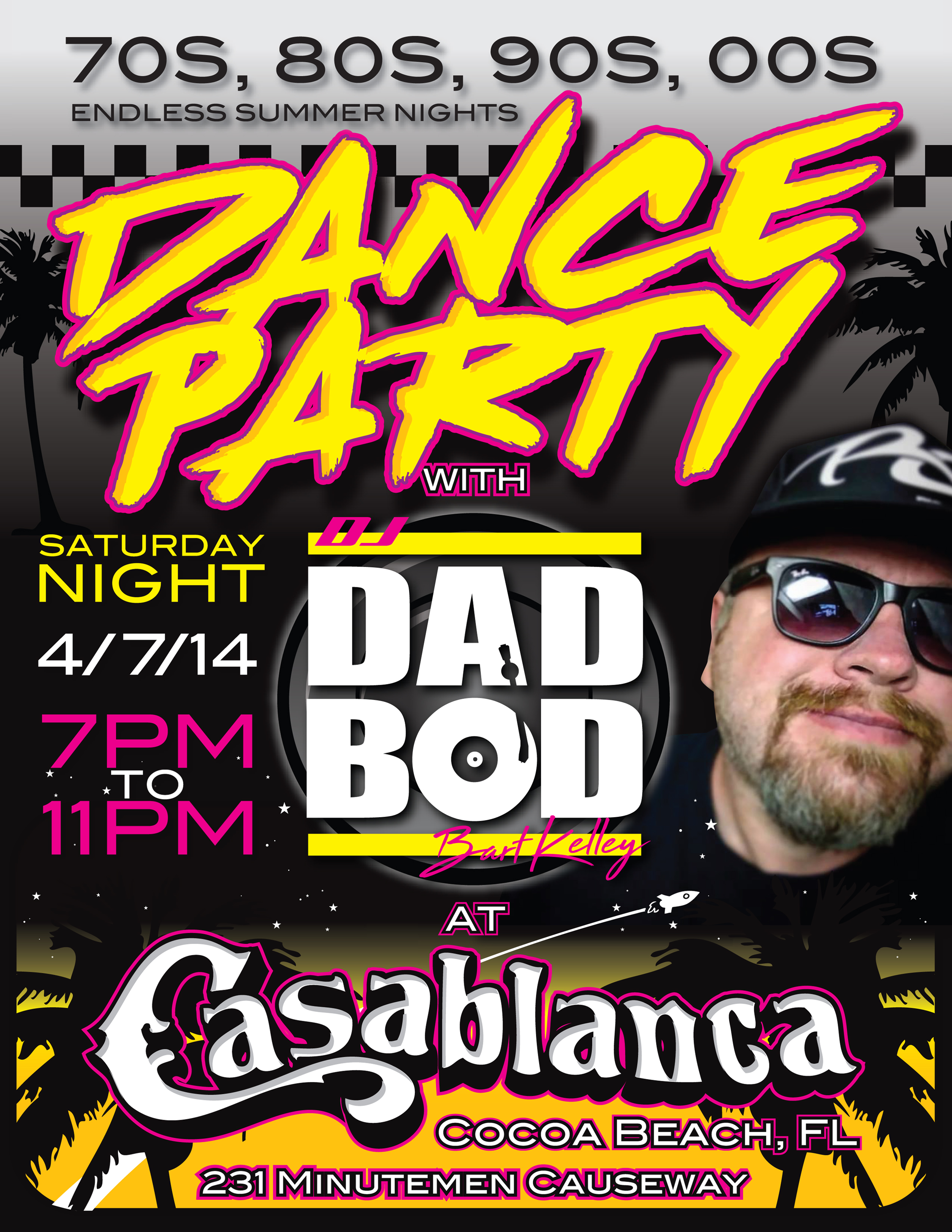 Dance Party with DJ Dad Bod at Casablanca April 7th